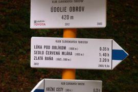 KST Krokus Hanušovce nad Topľou - Obnova značenia turistických trás v okrese Vranov nad Topľou